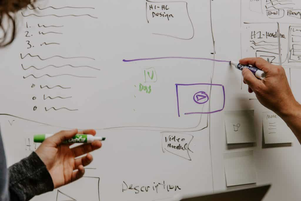 Creating content whiteboard