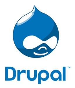 drupal logo - wordpress vs joomla vs drupal