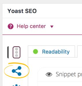Yoast SEO - social panel - Facebook share settings