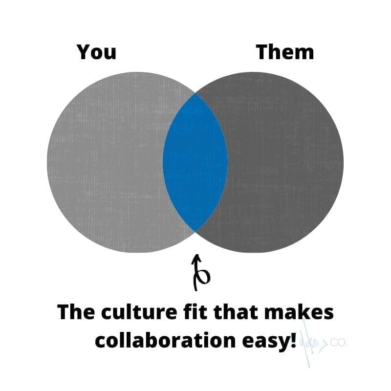 Venn diagram of a culture fit.